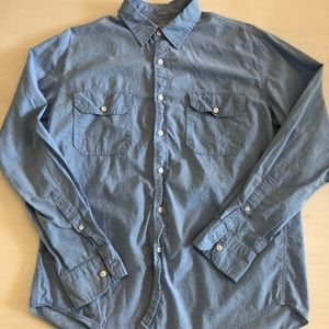 J Crew Men's Chambray Button Down Shirt